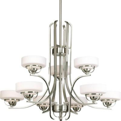 Torque Collection 9-Light Brushed Nickel Chandelier