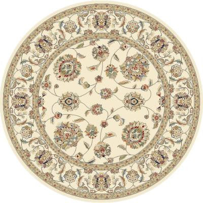 Judith Ivory 5 ft. 3 in. x 5 ft. 3 in. Round Indoor Area Rug