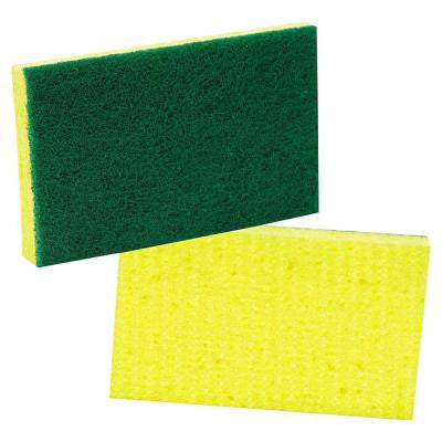 3-3/5 in. x 6-1/10 in. Medium-Duty Scrubbing Sponge (Case of 20)