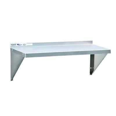 18 in. D x 48 in. L 12-Gauge Solid Aluminum Wall Shelf