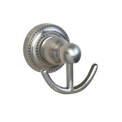 Nevelyn Double Robe Hook in Brushed Nickel