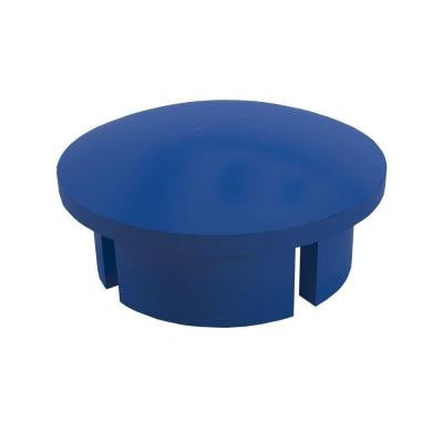 1 in. Furniture Grade PVC Internal Dome Cap in Blue (10-Pack)