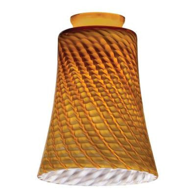 Amber Twist Concave Bell Shade LED Mini Pendant