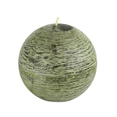 4 in. Scented Green Ball Candles (2-Box)