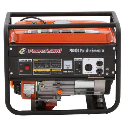 4,000-Watt Gasoline Powered Portable Gas Generator