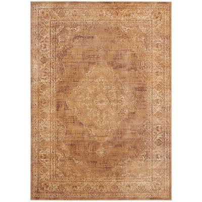 Vintage Taupe 6 ft. 7 in. x 9 ft. 2 in. Area Rug