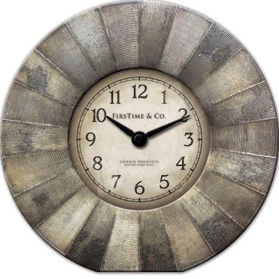 7 in. Round Luster Tabletop Wall Clock