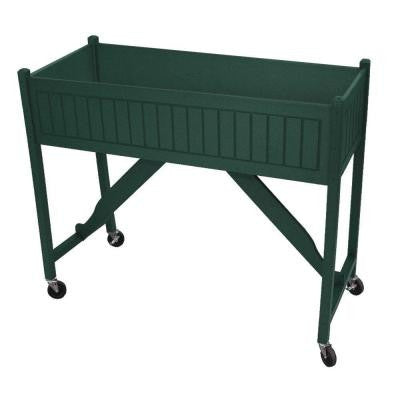 50 in. x 20 in. Green Recycled Plastic Commercial Grade Raised Garden Bed