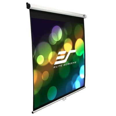 136 in. Manual Projection Screen with White Case