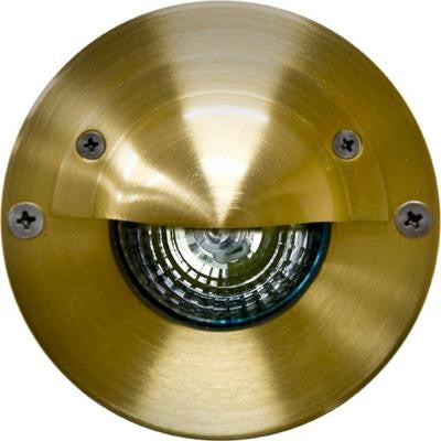 Ashler 1-Light Brass Outdoor Surface-Mount Step Light