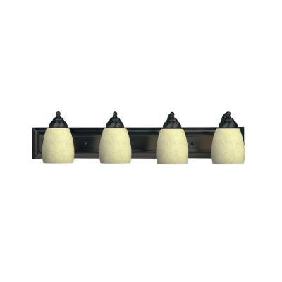 4-Light Golden Bronze Sconce