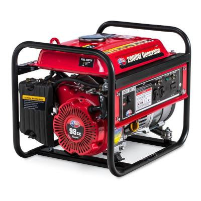 2,000-Watt Gasoline Powered Portable Generator with Open Frame