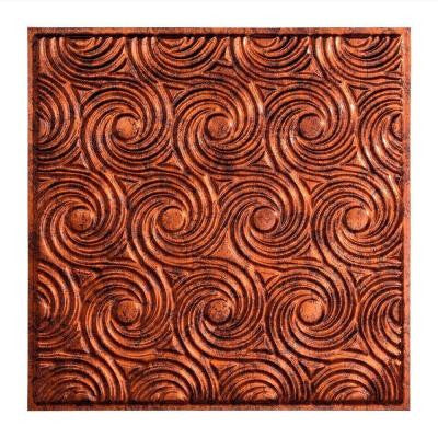 Cyclone - 2 ft. x 2 ft. Lay-in Ceiling Tile in Moonstone Copper