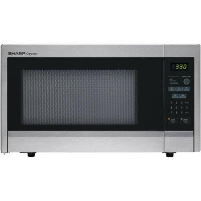 Carousel 1.1 cu. ft. 1000-Watt Countertop Microwave Oven in Stainless Steel