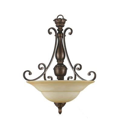Carina Collection 3-Light Aged Bronze Pendant