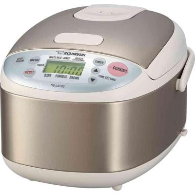 0.57 Qt. Stainless Steel Micom Rice Cooker and Warmer