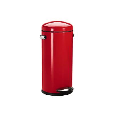30 l Red Round Retro Step-On Trash Can