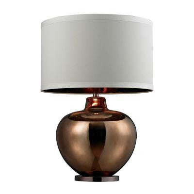 Dimond 30 in. Bronze Plating and Coffee Plating Table Lamp with Shade
