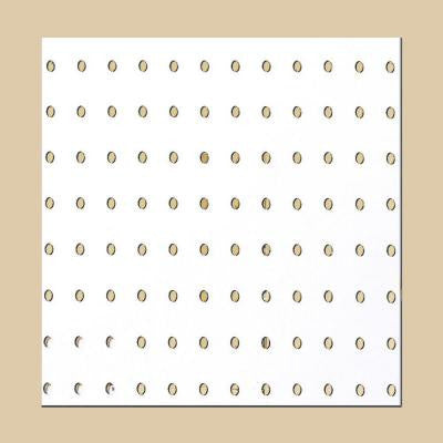 Pegboard White Panel (Common: 3/16 in. x 4 ft. x 8 ft.; Actual: 0.155 in. x 47.7 in. x 95.7 in.)