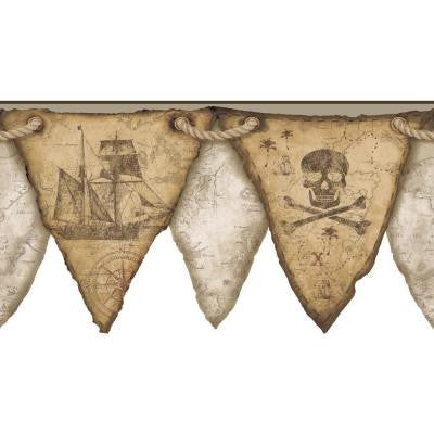 11 in. Cool Kids Pirates Pennant Border
