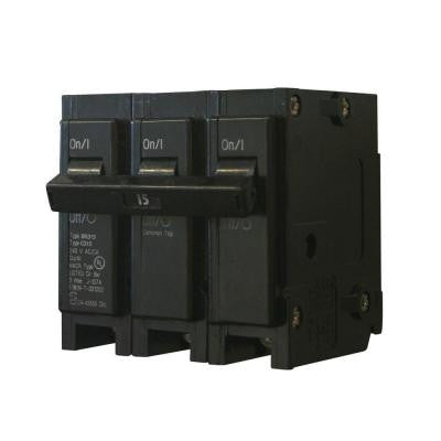 15 Amp 3 in. Triple-Pole Type BR Circuit Breaker