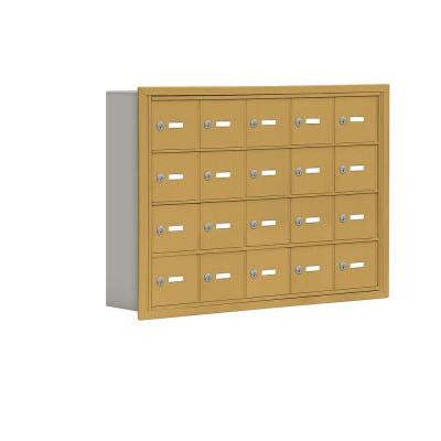 19000 Series 37 in. W x 25.5 in. H x 5.75 in. D 20 A Doors R-Mount Keyed Locks Cell Phone Locker in Gold