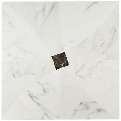 Bari Blanco 17-3/4 in. x 17-3/4 in. Ceramic Wall and Floor Tile (21.85 sq. ft. / case)