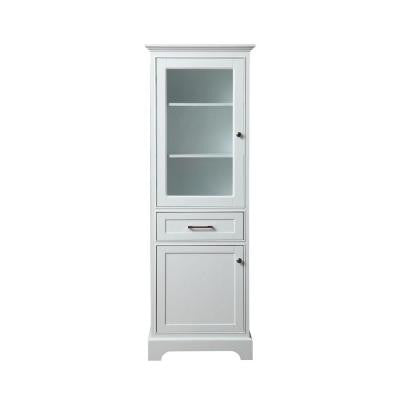 Morgan 24 in. W x 16 in. D x 72 in. H Storage Linen Floor Cabinet in White