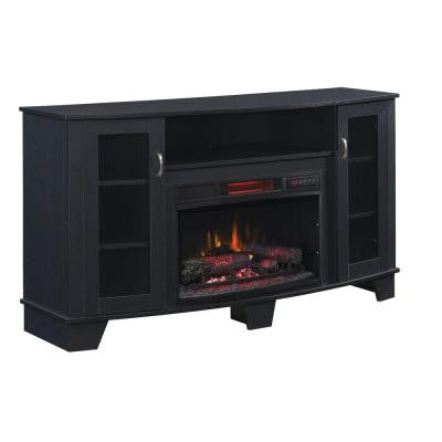 Grand Haven 59 in. Media Console Electric Fireplace in Black