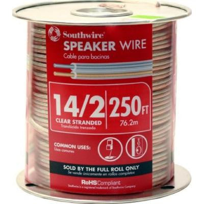 14-2 Speaker Wire Clear (By-the-Foot)