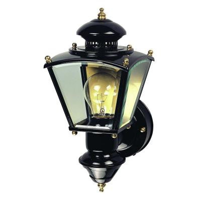 150° Black Charleston Coach Lantern with Clear Glass