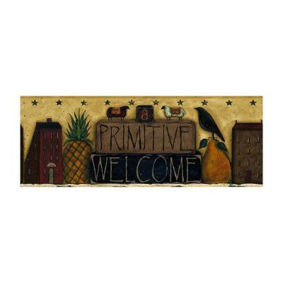 9 in. Primitive Welcome Border