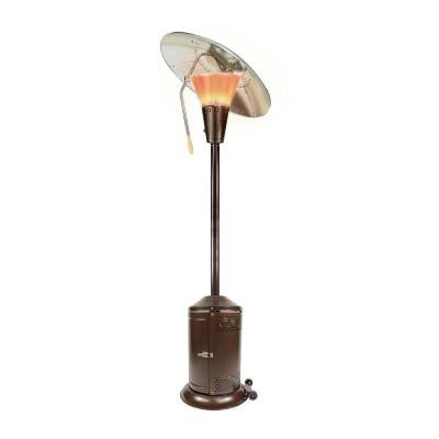 38,200 BTU Bronze Heat-Focusing Propane Gas Patio Heater