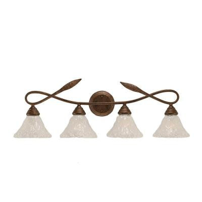 Anita 4-Light Bronze Incandescent Wall Vanity Light