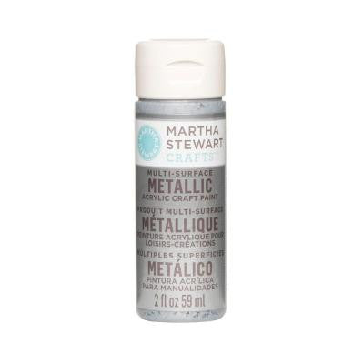 2-oz. Pure Platinum Multi-Surface Metallic Acrylic Craft Paint