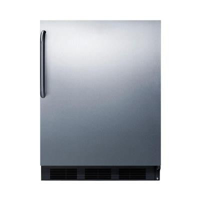 24 in. 5.5 cu. ft. Freezerless Refrigerator in Stainless Steel