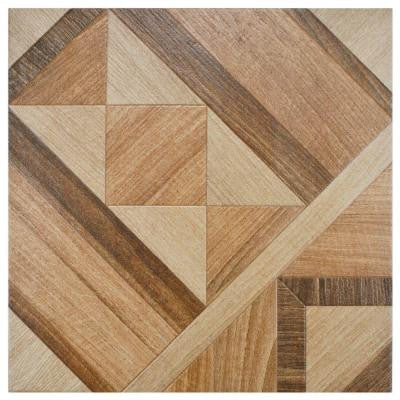 Versailles Natural 17-3/4 in. x 17-3/4 in. Ceramic Floor and Wall Tile (11 sq. ft. / case)