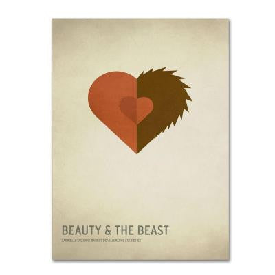 16 in. x 24 in. Beauty and the Beast Canvas Art