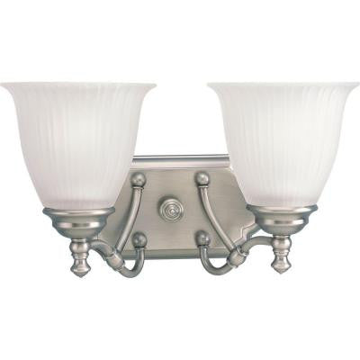 Renovations Collection 2-Light Antique Nickel Bath Light