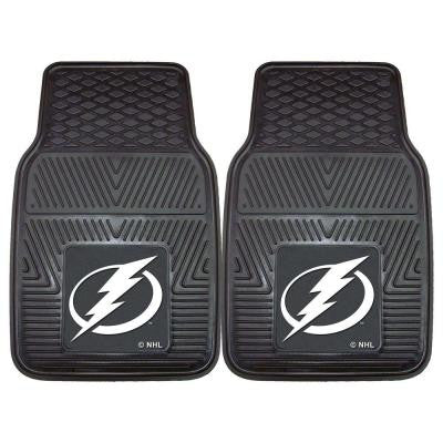 Tampa Bay Lightning 18 in. x 27 in. 2-Piece Heavy Duty Vinyl Car Mat
