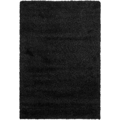 California Shag Black 6 ft. 7 in. x 9 ft. 6 in. Area Rug