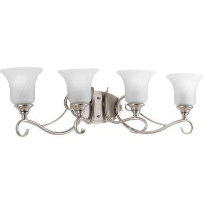 Kensington Collection 4-Light Brushed Nickel Bath Light