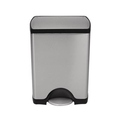30-Liter Fingerprint-Proof Brushed Stainless Steel Step-On Trash Can