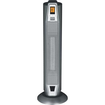 28.5 in. 1500 - Watt Oscillating Tower Ceramic Heater with Thermostat and Remote