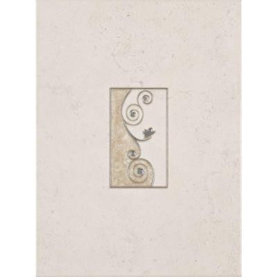 Melbourne Sand 8 in. x 12 in. Ceramic Insert Wall Tile