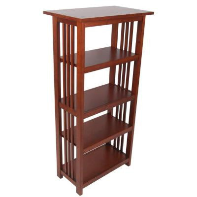 Mission 48 in. 4-Shelf Bookcase in Cherry