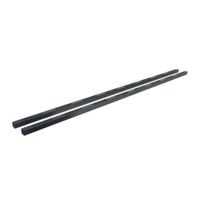 Fe26 6 ft. Black Sand Steel Level Hand Rail (2-Pack)