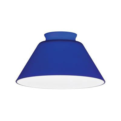 Cobalt Blue Cone Glass Shade LED Mini Pendant