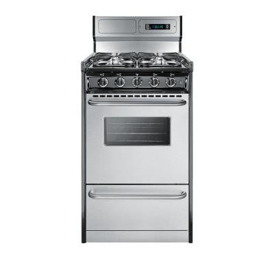 20 in. 2.46 cu. ft. Gas Range in Stainless Steel