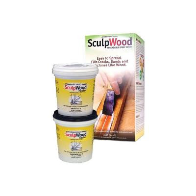 1-qt. SculpWood Paste Two Part Epoxy Paste Kit with 16 oz. Resin 16 oz. Hardener